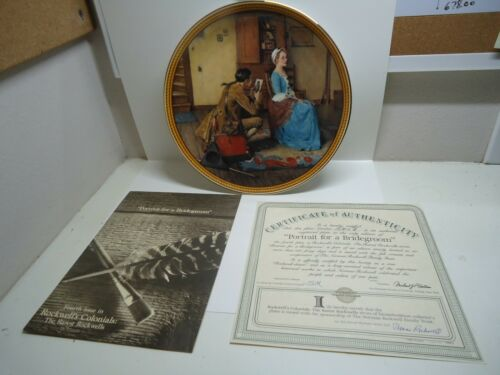 Vintage Edwin Knowles Norman Rockwell Portrait For A Bridegroom Collector Plate