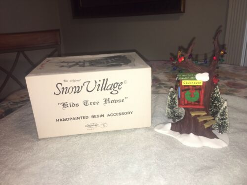 """DEPT 56 SNOW VILLAGE """"KIDS TREE HOUSE"""" #51683 HANDPAINTED RESIN ACCESSORY IN BOX"""