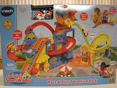 V-TECH GO! GO! SMART WHEELS RACE AND PLAY ADVENTURE PARK PLAYSET--NEW IN BOX (Adventure Smart Box)