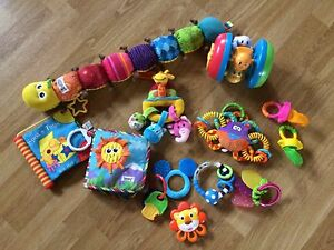 Infant toys and mesh feeders