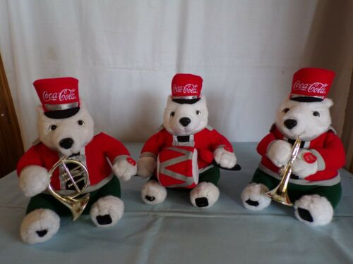 (M) Coca-Cola Polar Bears Marching Band Set Christmas Edition