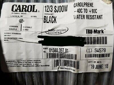 Carol 01380 123c Premium Carolprene Sjoow 300v Portable Power Cable Cord 50ft