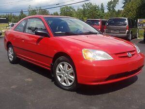 2003 Honda Civic Cpe AUTO 2DR 122K SAFETIED LX