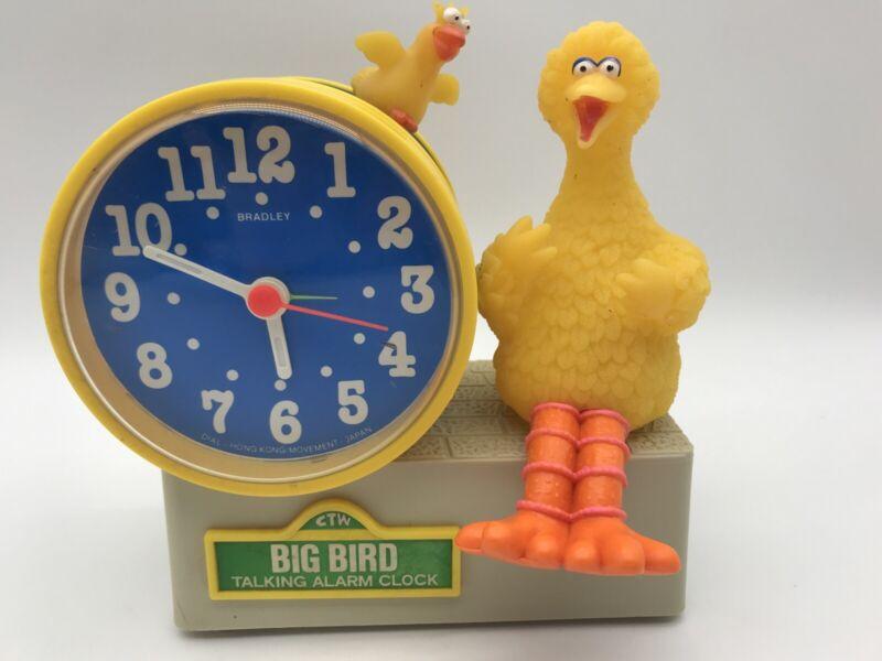 Vintage Bradley Big Bird Talking Alarm Clock Vintage Clock Works Alarm Does Not
