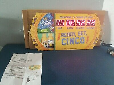 Corona beer cinco de Mayo Countdown Clock led sign bar Mexican restaurant new