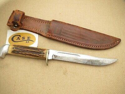 CASE Sans Serif Stamp Case XX Era Fixed Blade 516-5 Hunting Knife Genuine Stag