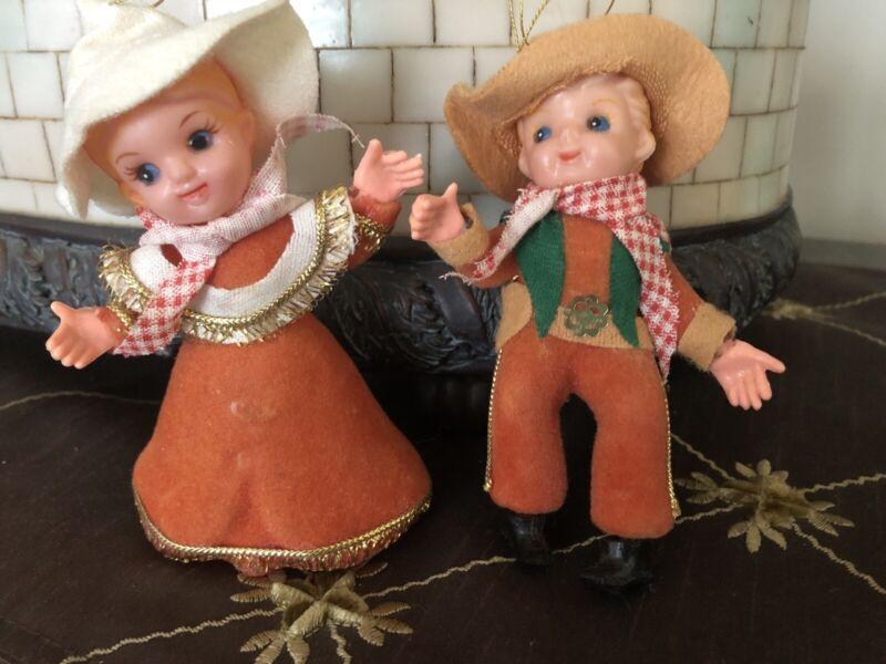 Vintage Japan Cowboy Ornaments
