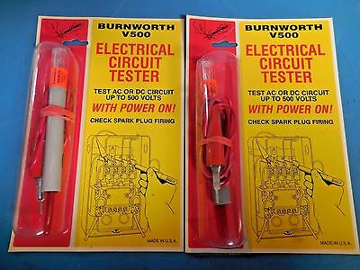 Burnworth V500 Electrical Circuit Tester -made In The Usa- Lot Of 2