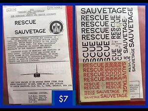 MODEL AIRPLANE DECALS-CAF Red Rescue