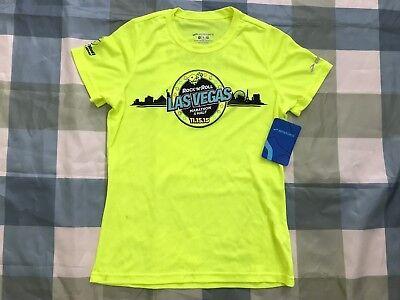 NWT Brooks Neon Green/Yellow Marathon & Half RUN Las Vegas 2015 Strip At Night (Running Las Vegas Strip)