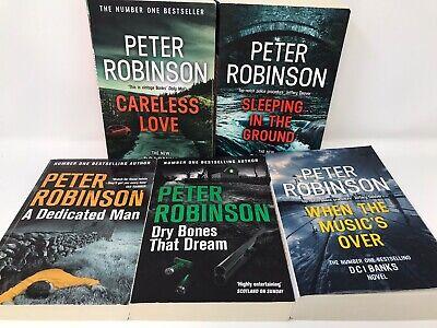 5 Peter Robinson Books Set Murder Crime Novel Series -  No1 Best Seller