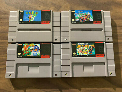 Super Mario World + Allstars + Kart + Yoshi's Island (Super Nintendo, SNES LOT)