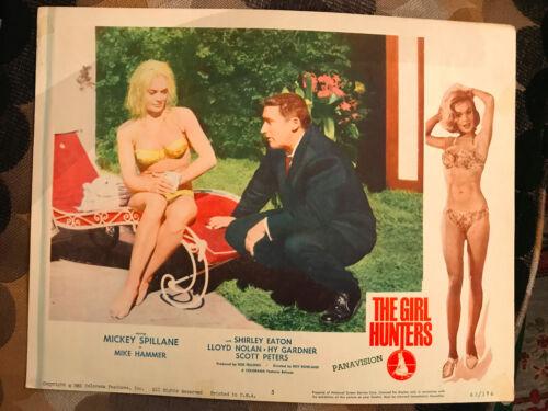 The Girl Hunters 1963 Colorama crime lobby card Shirley Eaton Mickey Spillane