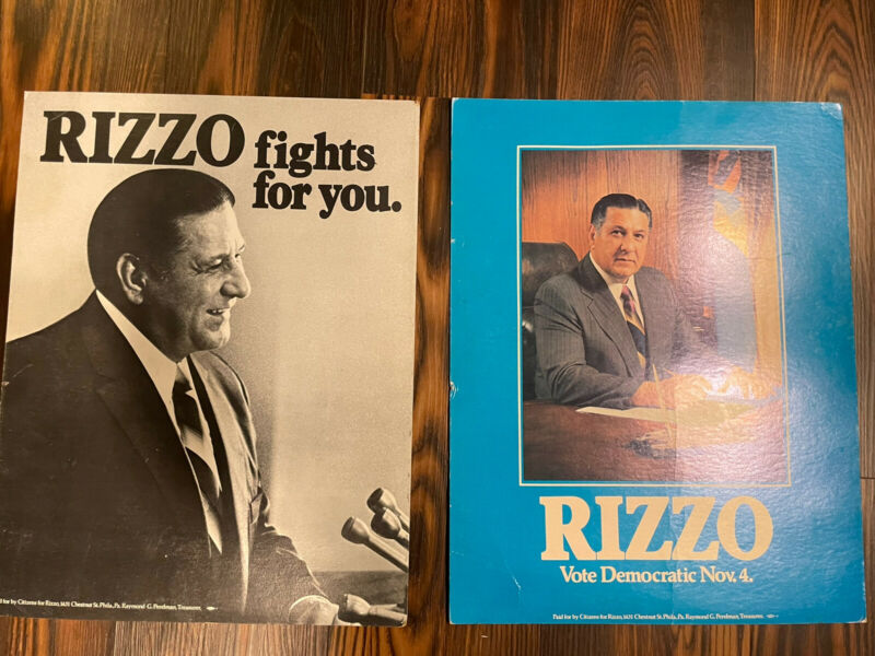 Philadelphia Mayor Frank Rizzo Poster