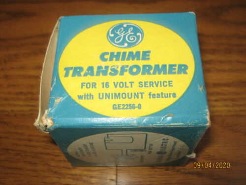 GENERAL ELECTRIC GE CHIME TRANSFORMER  Home Apartment DOORBELL  NEW NEVER USED