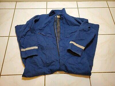 Vint Lion Apparel Work Uniform Lined 2xl Coveralls Blue Reflective Hemmed Ps630
