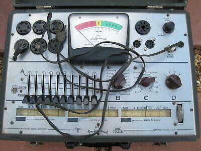 Vintage N.r.i. Model 71 Vacuum Tube Tester Nri