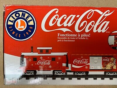 Coca-Cola Lionel Train Set G-Gauge Battery Powered Christmas New In Box! NIB