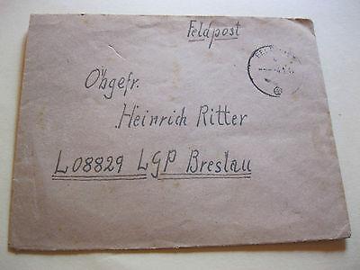 Feldpostbrief, 4.9.44 nach Breslau, Abs. Luftwaffen-Bau-Batt.105/IV, ohne Inhalt Batt Post