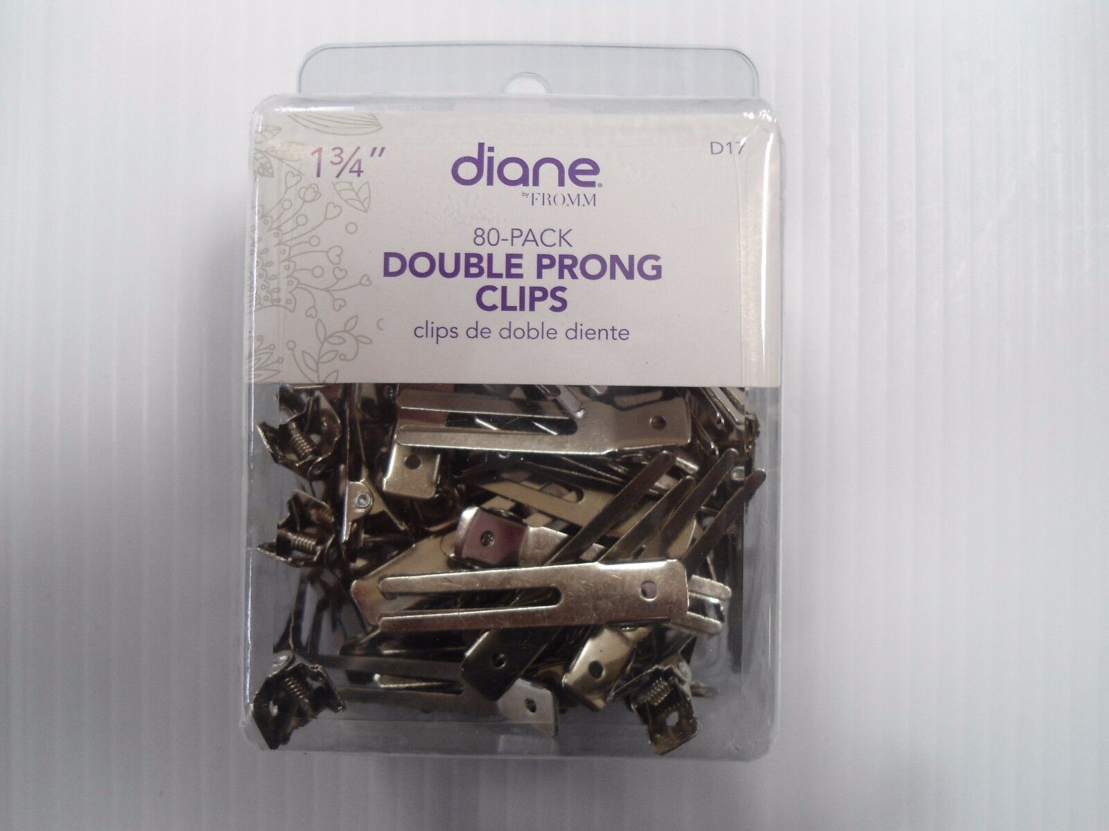 Diane Double Prong Clips 80 Clips