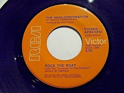 The Hues Corporation Rock The Boat / We're All Going Down 45 1974 R Vinyl