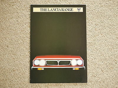 * The Lancia Range 1982 UK promotional leaflet brochure poster *  Group 6 winner