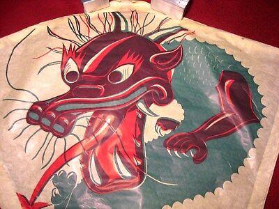 Kite Paper (*VINTAGE* *1960's* *CHINESE DRAGON PAPER KITE* *RARE* *LARGE* *35-1/2