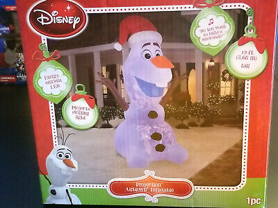 12' DISNEY/GEMMY FROZEN OLAF PROJECTION LIGHTS CHRISTMAS Airblown/Inflatable