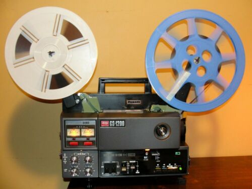 Elmo GS-1200 M&O STEREO SOUND Movie PROJECTOR in Box ~ SERVICED ~