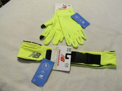 TCS New York City Marathon Unisex Gloves sz XL & Training Belt 1 sz Both NWT