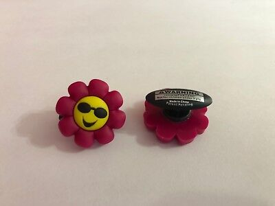Pink Flower with Sunglasses Shoe-Doodle For Rubber Shoes Crocs Shoe Charm (Sunglasses For Teenage Girls)