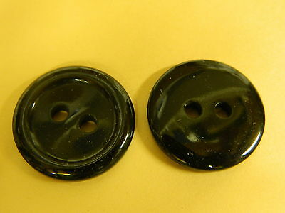 NEW 10 1 1/8 INCH BLACK POLISHED RB FINISH  BUTTON 2 HOLE  (New 10 Black Rim)