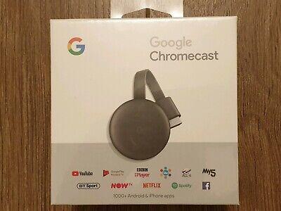 Google Chromecast 3rd Generation Media Streamer - Black