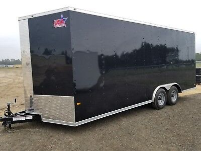 8.5x20 Enclosed Trailer Cargo V Nose 22 Car Hauler 8 Motorcycle Box Lawn 2019
