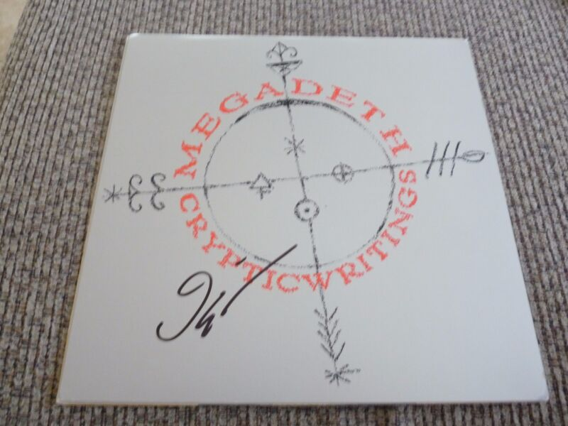Dave Ellefson Megadeth Autographed Signed LP Flat Poster PSA Guaranteed