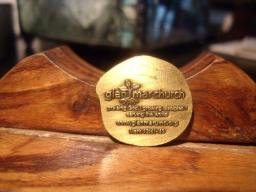 Glen Mar Church ELLIOT CITY MD. - WIDOWS MITE Token/Medal PRAISING GOD-SERVING