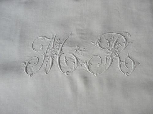 "GLORIOUS XL FRENCH METIS LINEN SHEET 92X134"" monogram MR"