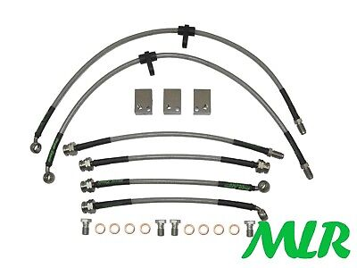 Civic FN2 Type R FULL KIT Wezmoto Stainless Steel Braided Brake Hoses Lines