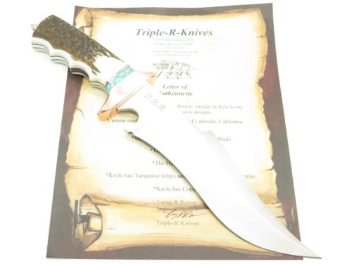 RRR Sub Hilt Elk Stag Fixed Bowie Knife R5 By 1st Buck Custo
