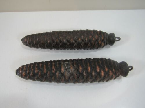"Pair of #44 Iron Pinecone Cockoo Clock 7 3/4"" Weights"