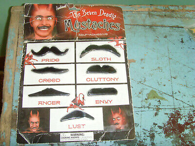 NEW NOS Novelty Hot Topic The Seven Deadly Sins Mustaches Devil display costume](Devil Mustache)