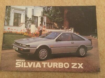 1985 NISSAN SILVIA TURBO ZX Sales Brochure excellent condition with price list