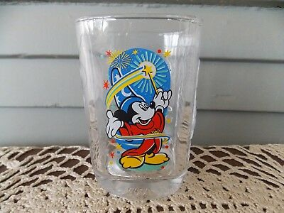 Vintage McDonald's 2000 Disney World Epcot Center Square Glass Tumbler Mickey