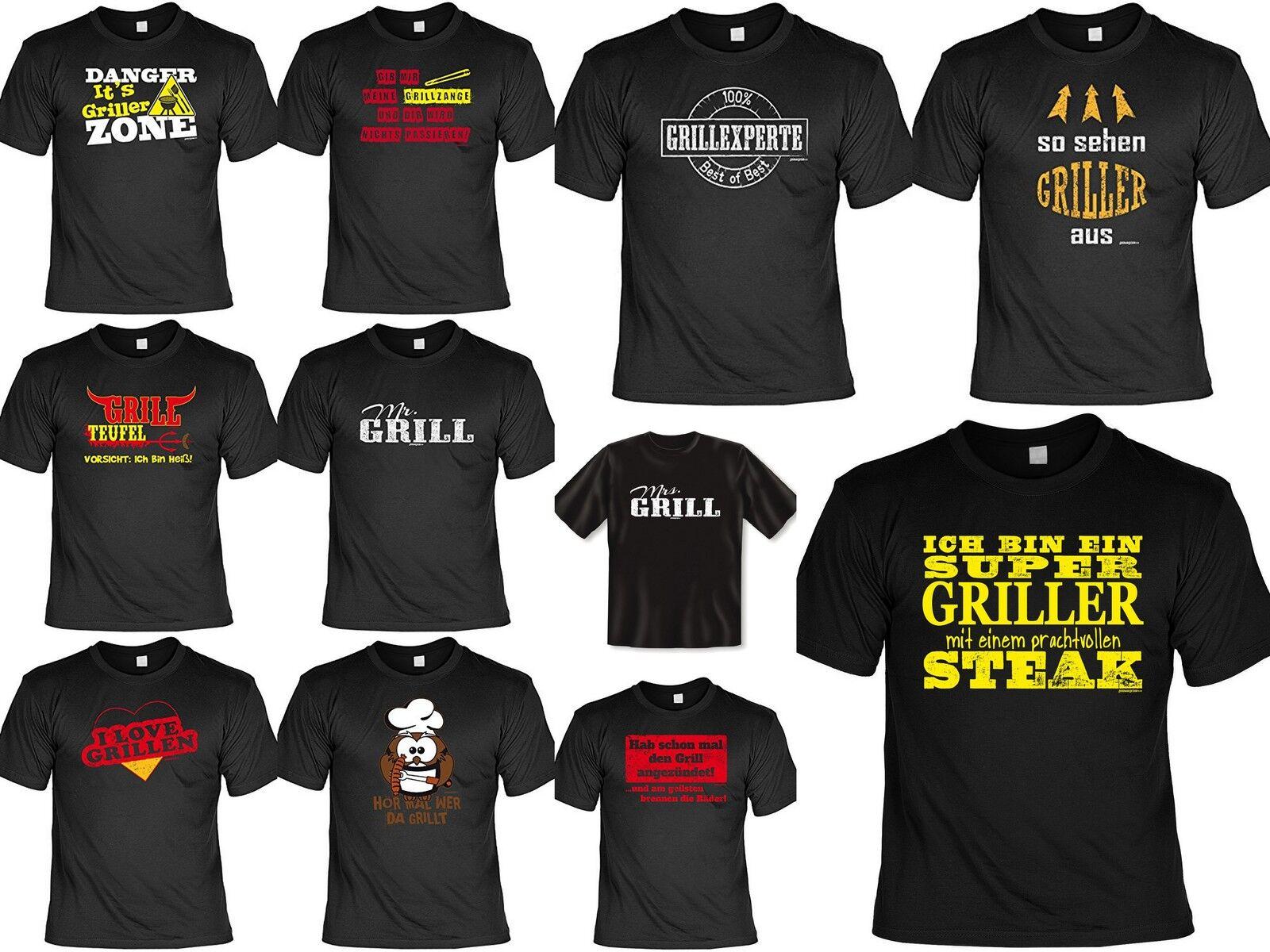 Cooles Fun Partyshirt - Funshirt Grill Sprüche - lustige Sprüche T-Shirt Grillen