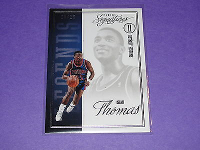 2012-13 Panini Signatures ISIAH THOMAS #115 Legends Variant/25 Detroit PISTONS