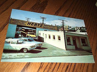 Altoona Pa  Hertz Car Truck Rental Building 24Th Street Old Postcard