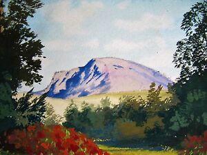 Very Fine Modern Watercolour Painting. Ben Nevis, Scotland