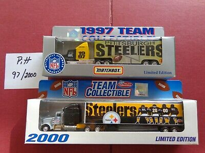 Vintage NFL Pittsburgh Steelers  2 -Trucks 1997 & 2000  New