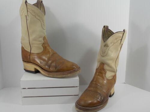 TONY LAMA Brown Tan Boots Comfort Soles Men