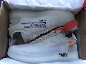 Nike Air Force 1s off white sz 12